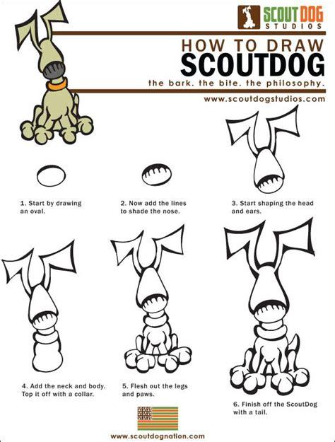 draw dogs scoutdog    draw scoutdog