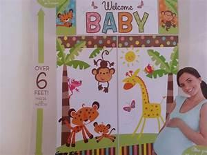 Welcome baby setter wall banner jungle safari
