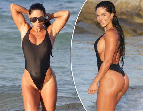 Fitness Babe Michelle Lewin Puts Her Huge Assets On Display Celebrity News Showbiz Tv