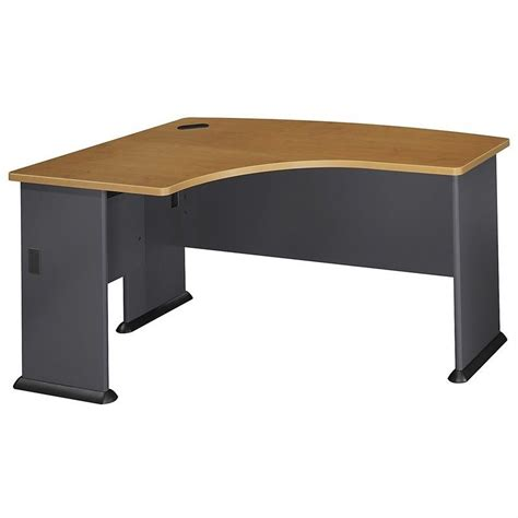 bush series a desk bush business series a 60x44 lh l bow desk in natural