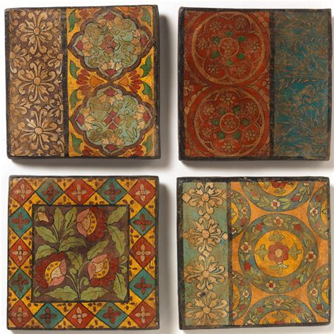 hand painted terracotta tile natural collection select