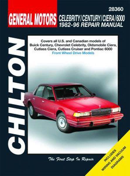 car repair manuals download 1993 oldsmobile ciera auto manual chevy celebrity buick century oldsmobile ciera cutlass ciera cutlass cruiser pontiac 6000
