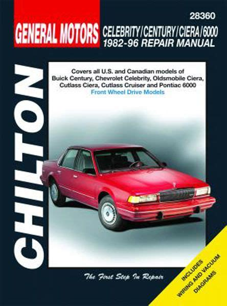 free online auto service manuals 1984 pontiac 6000 interior lighting chevy celebrity buick century oldsmobile ciera cutlass ciera cutlass cruiser pontiac 6000