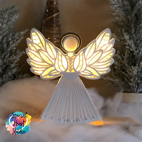I prefer to use a fresh light grip mat with a fresh blade. Layered Christmas Angel - SPECIAL HEART STUDIO