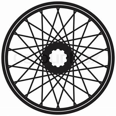 Wheel Bicycle Vector Clipart Motorcycle Spoke Bike