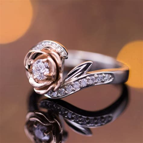 flower engagement rings custommadecom