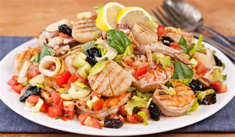 Grilled Seafood Salad - In the Kitchen with Stefano Faita
