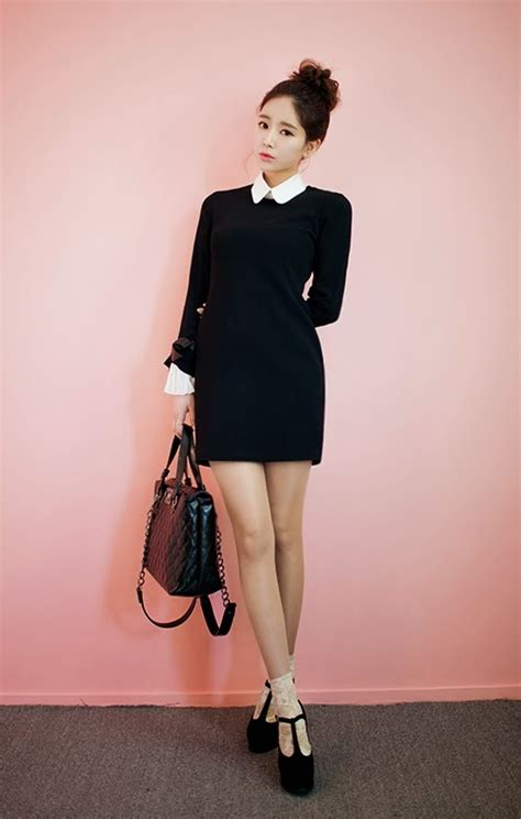 chuu satin ribbon cuff dress kstylick latest korean
