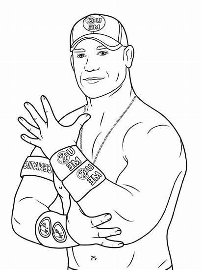 Coloring Wwe Cena John Grade Wrestling Worksheets