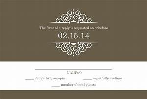 Wedding rsvp wording formal and casual wording you will for Wedding invitation response text
