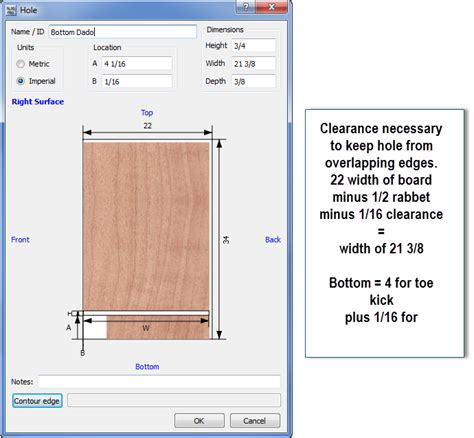 cabinet design software with cutlist dado on board surface with cabinet design software