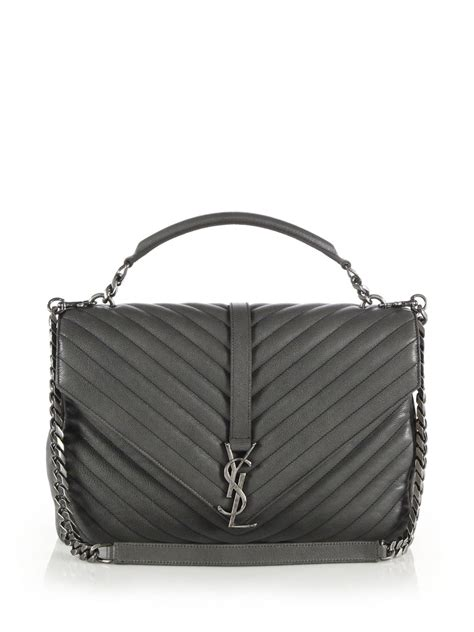 saint laurent monogram matelasse leather shoulder bag