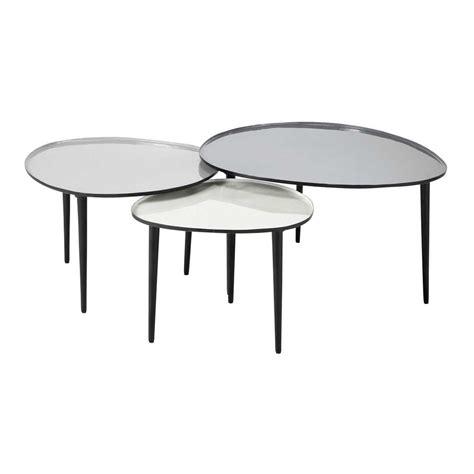 tables basses gigognes en metal   cm    cm galet maisons du monde