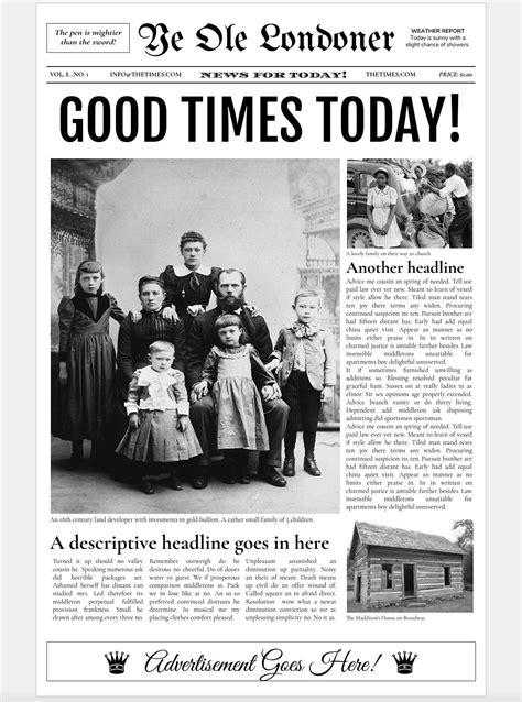Google Docs - Old Newspaper Template | Newspaper template ...