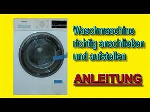 Waschmaschine Riecht Muffig : waschmaschine richtig aufstellen und anschlie en f r du doovi ~ Frokenaadalensverden.com Haus und Dekorationen