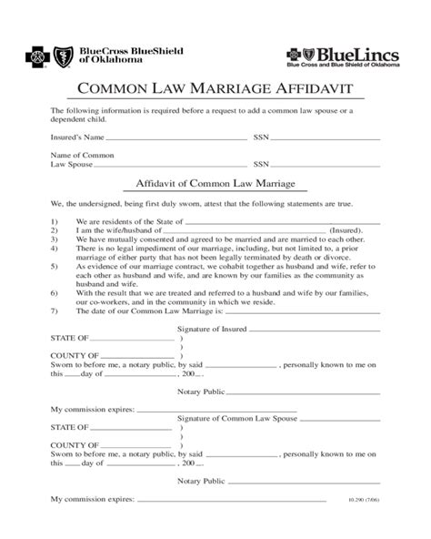 2018 affidavit of marriage fillable printable pdf forms handypdf