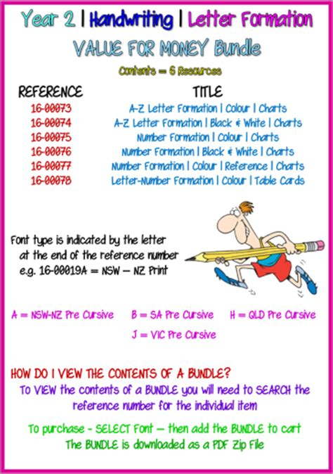 year  handwriting letter formation bundle qld