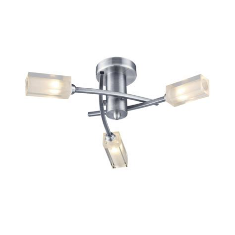 mor0346 3 light semi flush in satin chrome
