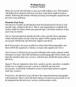college essay template 7 free word pdf documents With college essay format