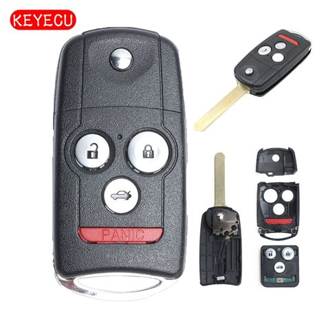 keyecu pair replacement remote key 3 1 button 313 8mhz fob for honda acura tl tsx zdx 2009 2014