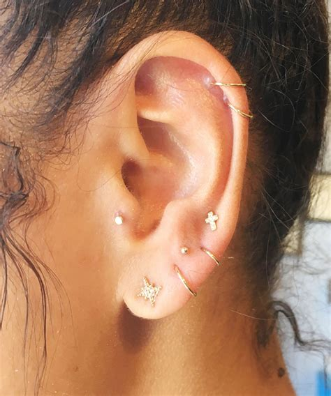 Constellations Ear Piercing Star Jewelry Trend