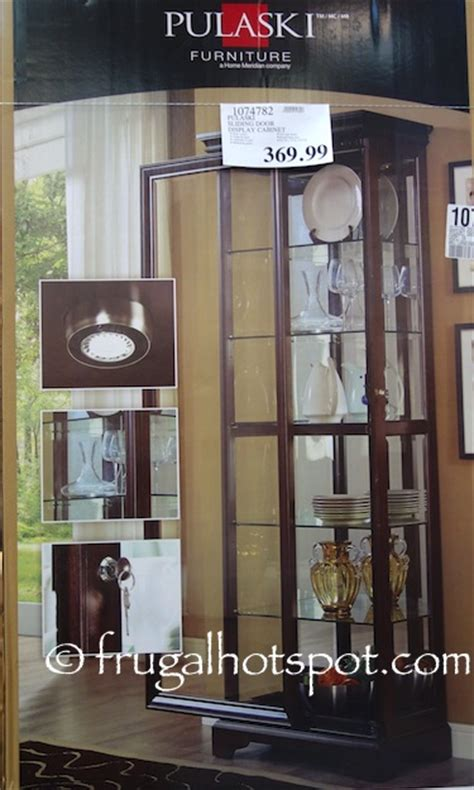 pulaski cambridge sliding door cabinet curio frugal hotspot