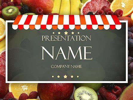 grocery store powerpoint template backgrounds