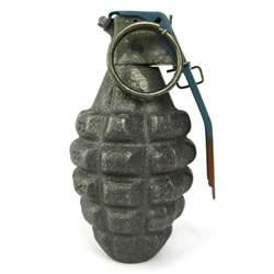 Metal Hand Grenade Replica