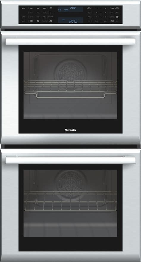 thermador medjs   double electric wall oven   cu ft true convection ovens