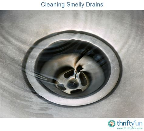 sink drain smell cleaner cleaning smelly drains thriftyfun