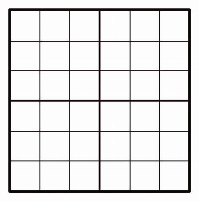 Sudoku Grid 6x6 Empty Openclipart Clipart Log
