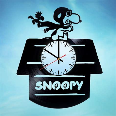 Snoopy and Woodstock Handmade Vinyl Record Wall Clock Fan ...