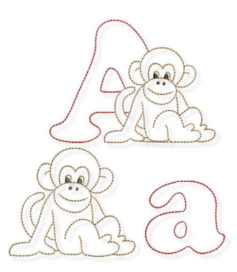 justletters tier alphabet stickvorlage