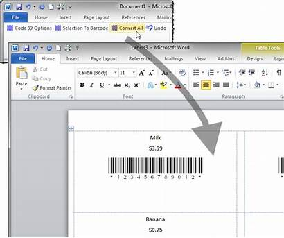 Word Labels Barcode Excel Create Code Merge