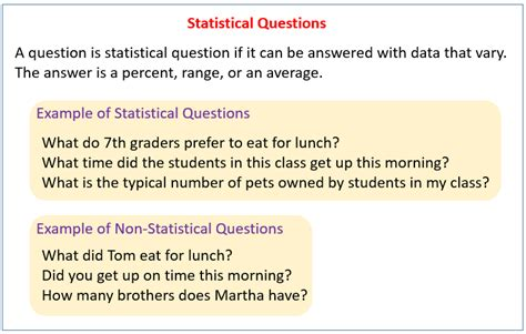 statistical questions exles solutions