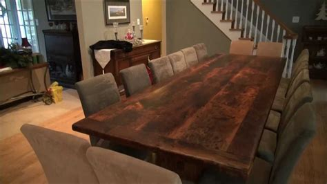reclaimed wood trestle tables finished  epoxy  hd