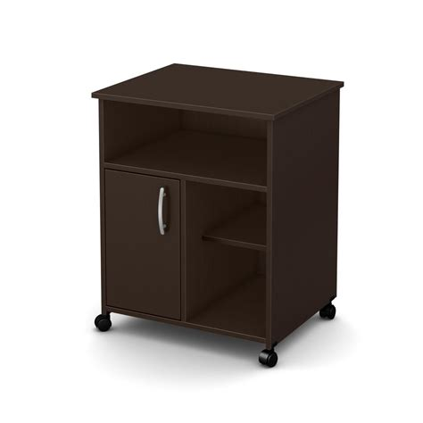 Home Depot Microwave Stand by South Shore Axess Microwave Cart With Storage On Wheels