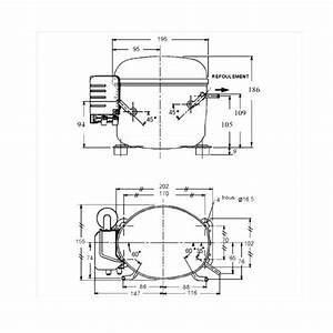 L Unite Hermetique Aez4430z Hbp R22 R404a Compressor Tubed