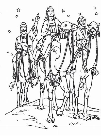 Coloring Pages Primary Christmas Wise Lesson Jesus