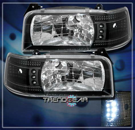 ford    bronco led headlight black  ebay