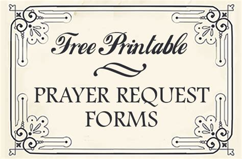 printable prayer request forms printable prayers