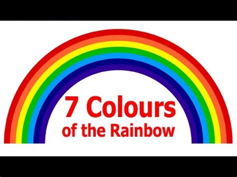 7 colors of rainbow 7 colours of the rainbow for for