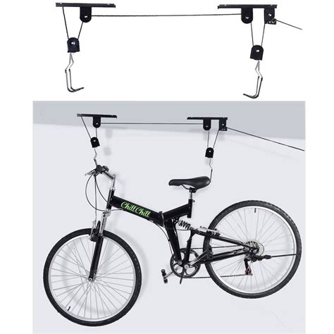 New Bike Bicycle Lift Ceiling Mounted Hoist Storage Garage