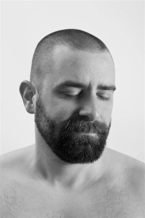 men in black and white | Barbes | Pinterest | Beard styles, Shaved head styles and Beard haircut