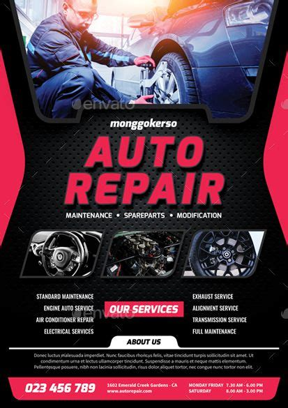 auto repair preview graphicriver auto repair repair