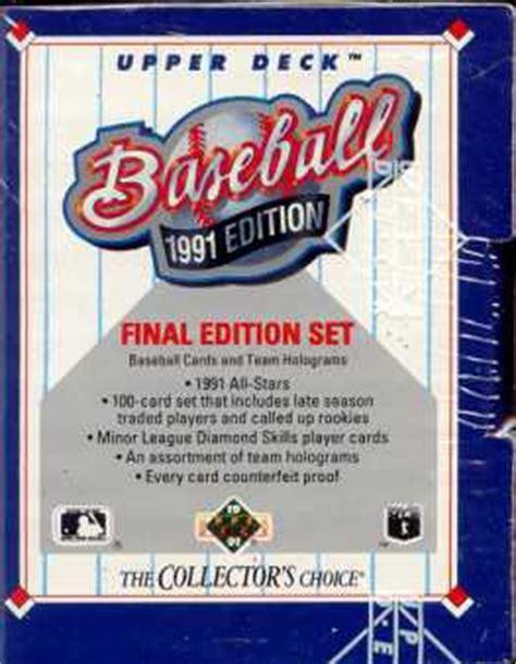 1991 deck edition baseball factory set da card world