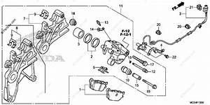 Honda Motorcycle 2013 Oem Parts Diagram For Rear Brake