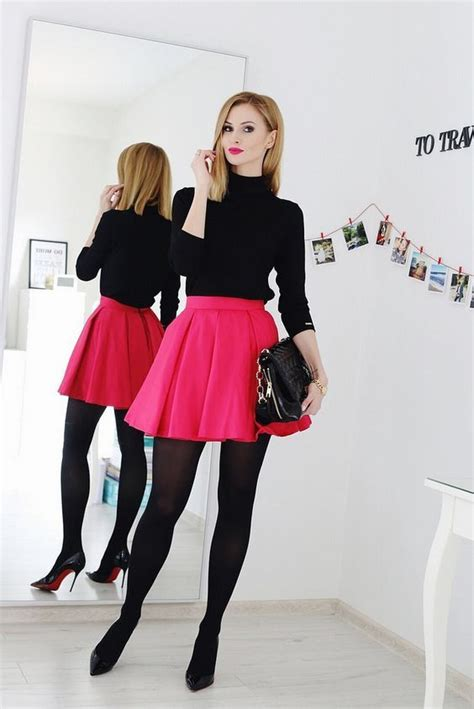 Fashionable Skater Skirt Look for Trendy Girls | Trendy Mods.Com