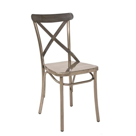 chaise bistrot metal chaise bistrot tout metal 21 couleurs au choix cmg 15322