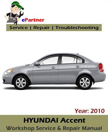 free online car repair manuals download 2010 hyundai genesis instrument cluster hyundai accent service repair manual 2010 automotive service repair manual